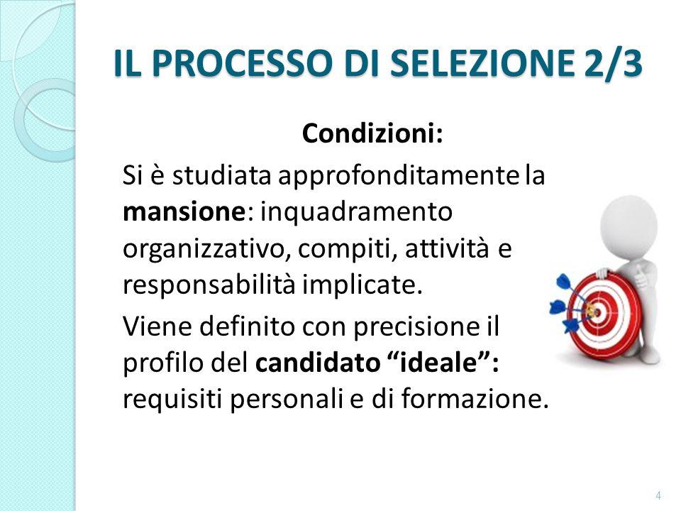 IL PROCESSO DI SELEZIONE 2/3