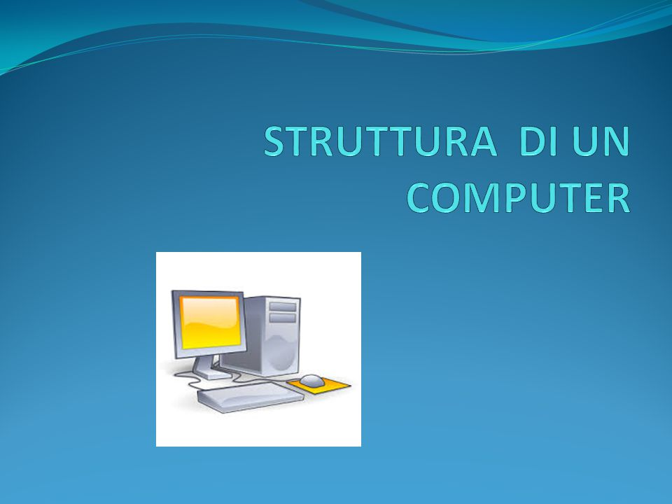 STRUTTURA DI UN COMPUTER