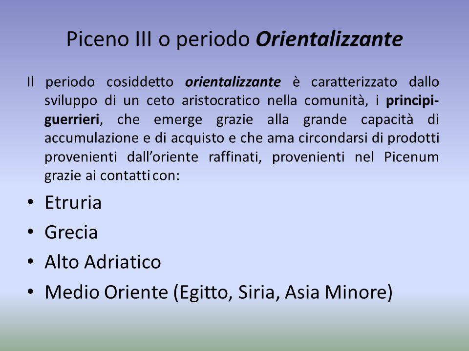 Piceno III o periodo Orientalizzante