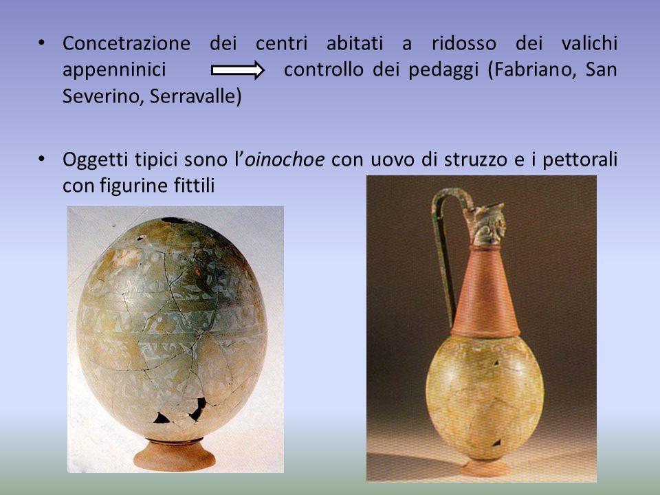 Concetrazione dei centri abitati a ridosso dei valichi appenninici controllo dei pedaggi (Fabriano, San Severino, Serravalle)