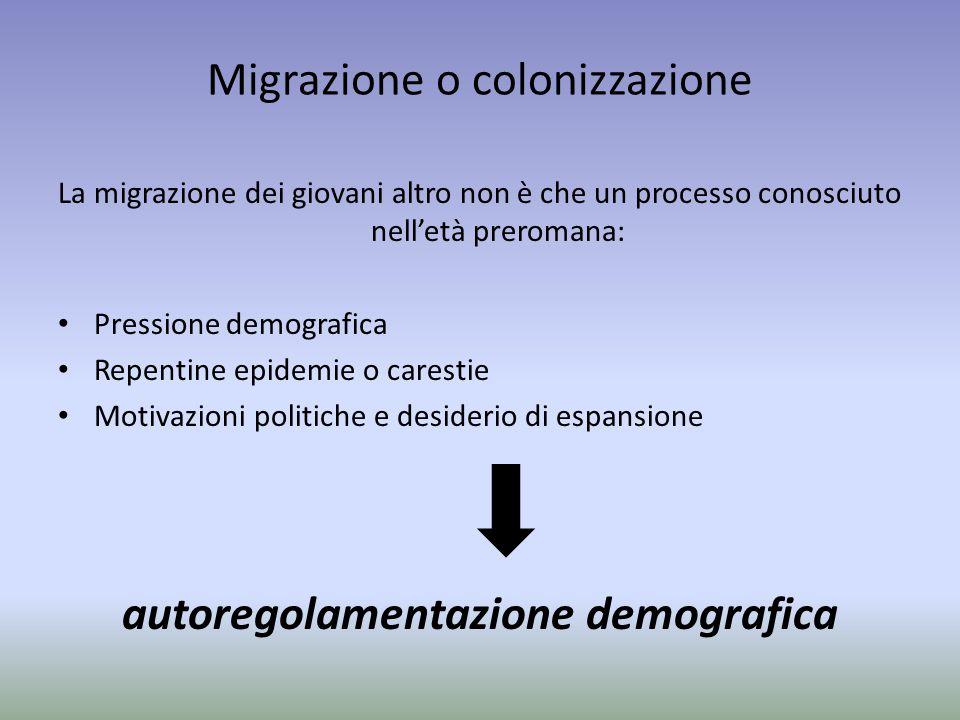 Migrazione o colonizzazione