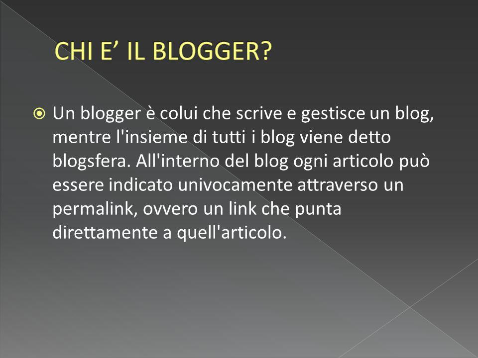 CHI E' IL BLOGGER