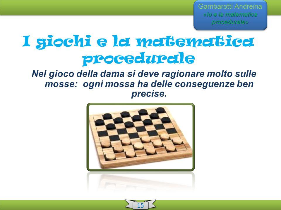 I giochi e la matematica procedurale