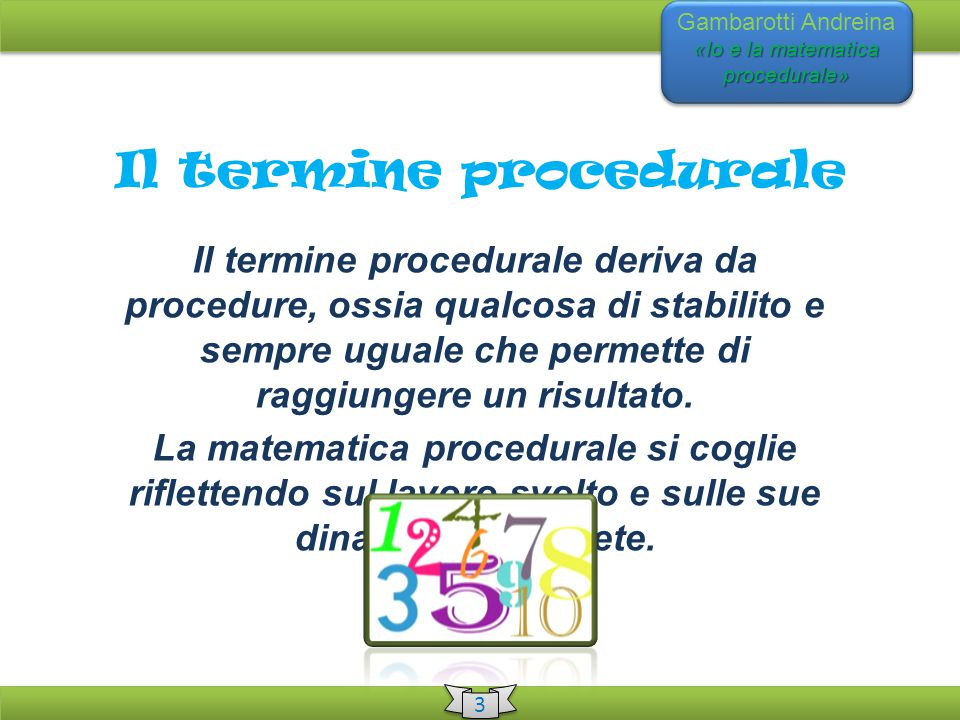 Il termine procedurale