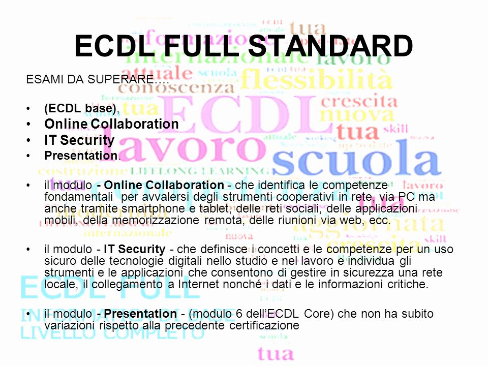 ECDL FULL STANDARD Online Collaboration IT Security