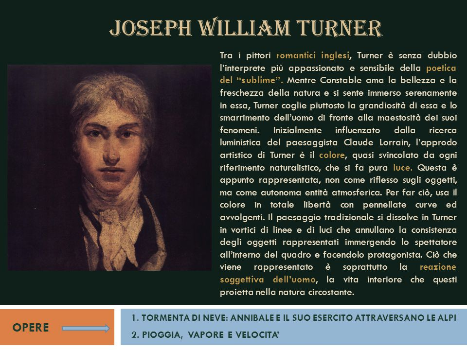 JOSEPH WILLIAM TURNER OPERE