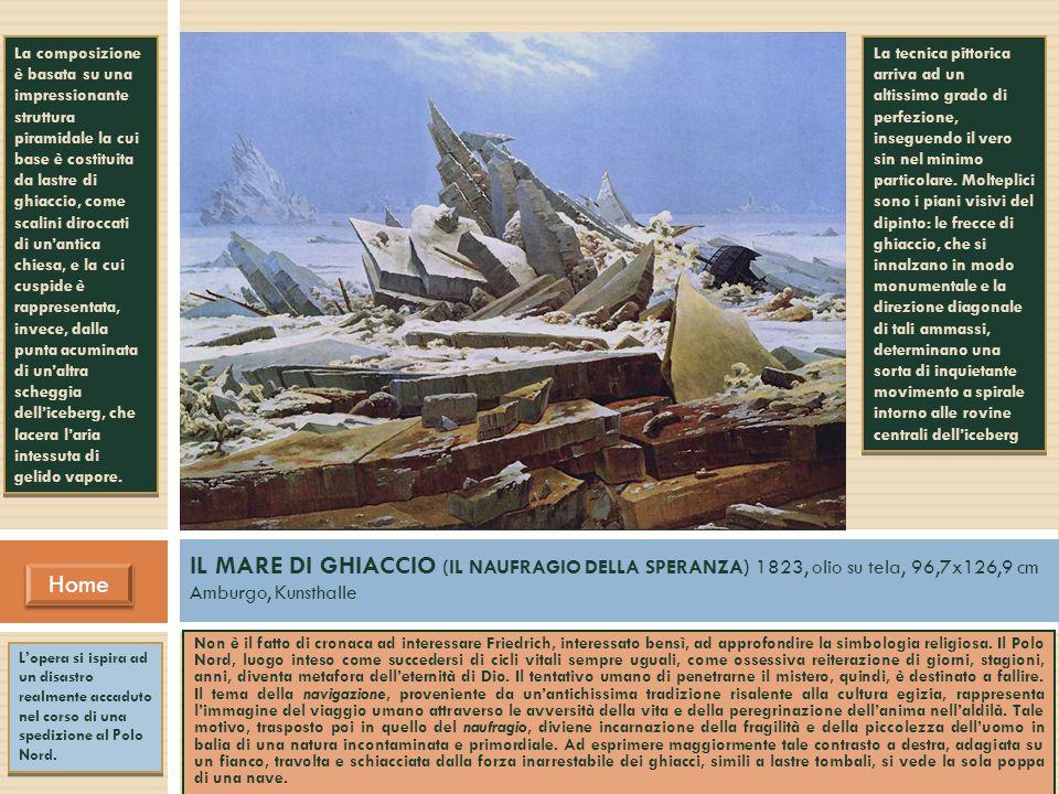 La composizione è basata su una impressionante struttura piramidale la cui base è costituita da lastre di ghiaccio, come scalini diroccati di un'antica chiesa, e la cui cuspide è rappresentata, invece, dalla punta acuminata di un'altra scheggia dell'iceberg, che lacera l'aria intessuta di gelido vapore.