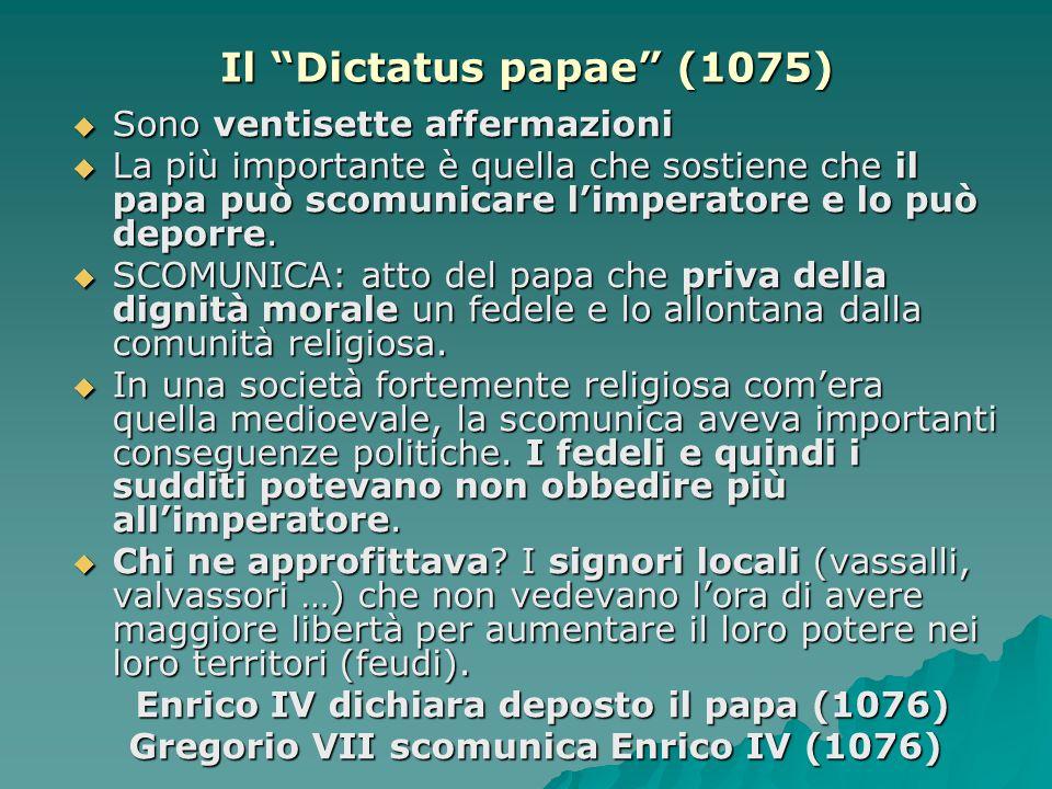 Gregorio VII scomunica Enrico IV (1076)