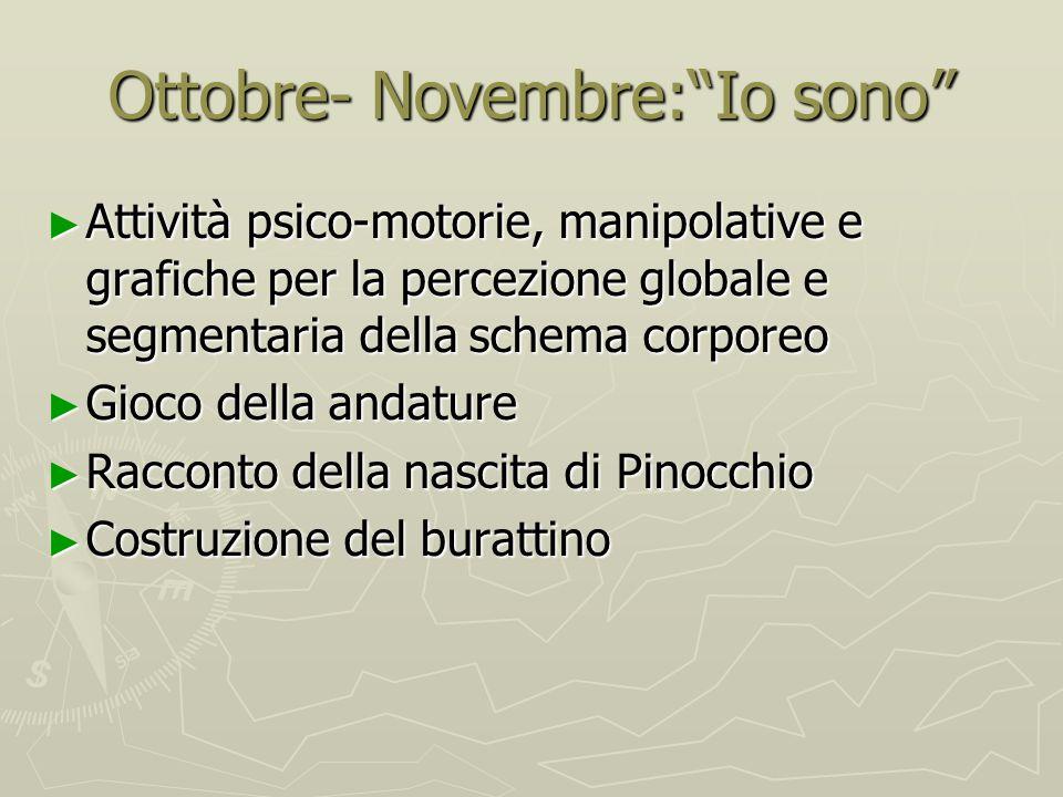 Ottobre- Novembre: Io sono