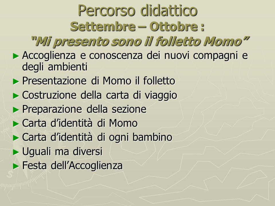 Percorso didattico Settembre – Ottobre : Mi presento sono il folletto Momo