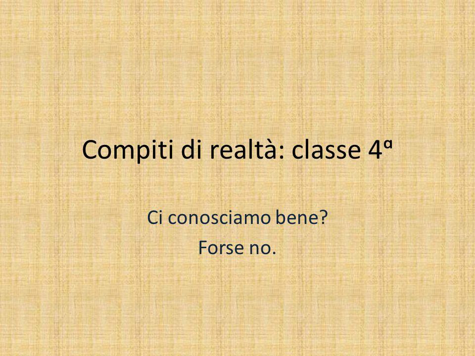 Compiti di realtà: classe 4ᵅ