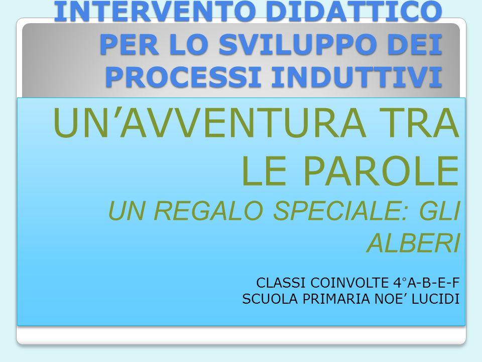 INTERVENTO DIDATTICO PER LO SVILUPPO DEI PROCESSI INDUTTIVI