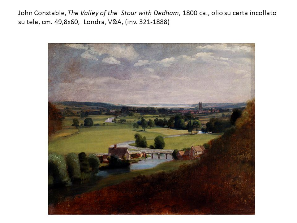 John Constable, The Valley of the Stour with Dedham, 1800 ca