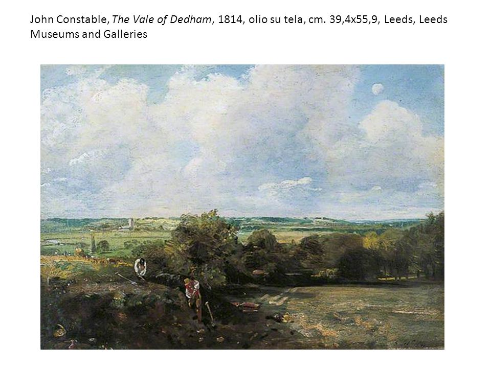 John Constable, The Vale of Dedham, 1814, olio su tela, cm