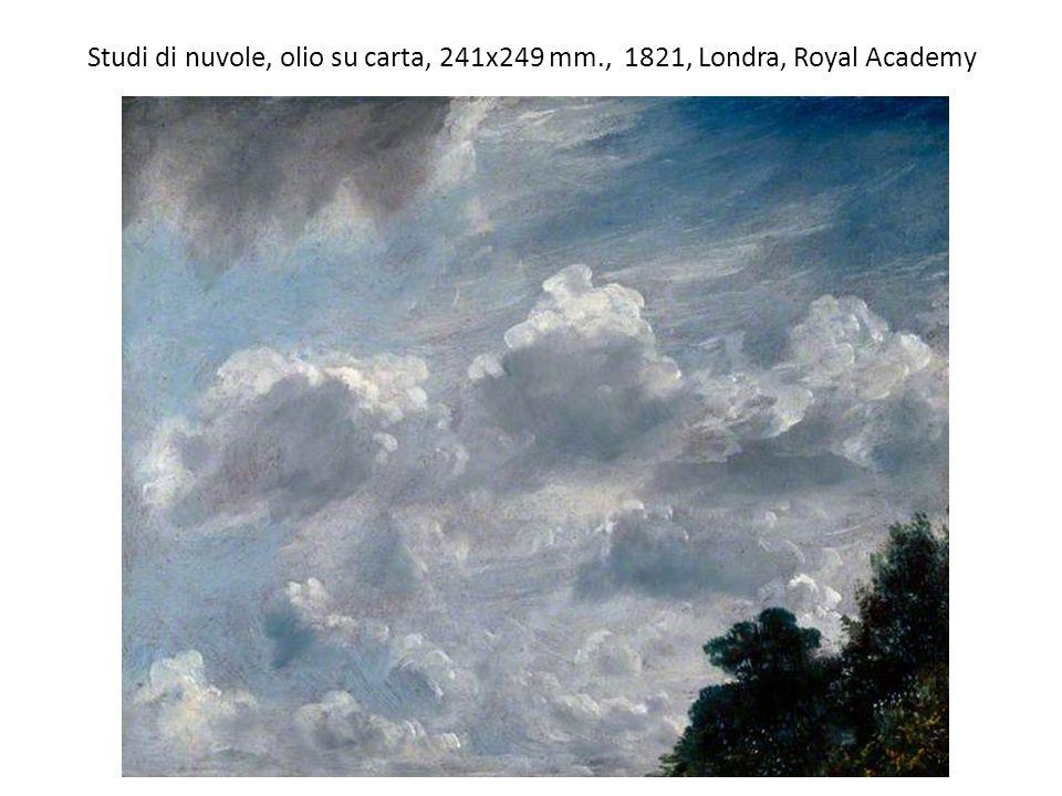 Studi di nuvole, olio su carta, 241x249 mm