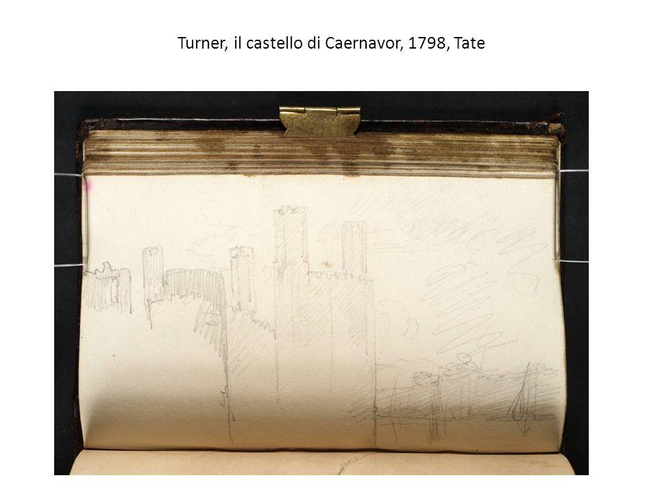 Turner, il castello di Caernavor, 1798, Tate
