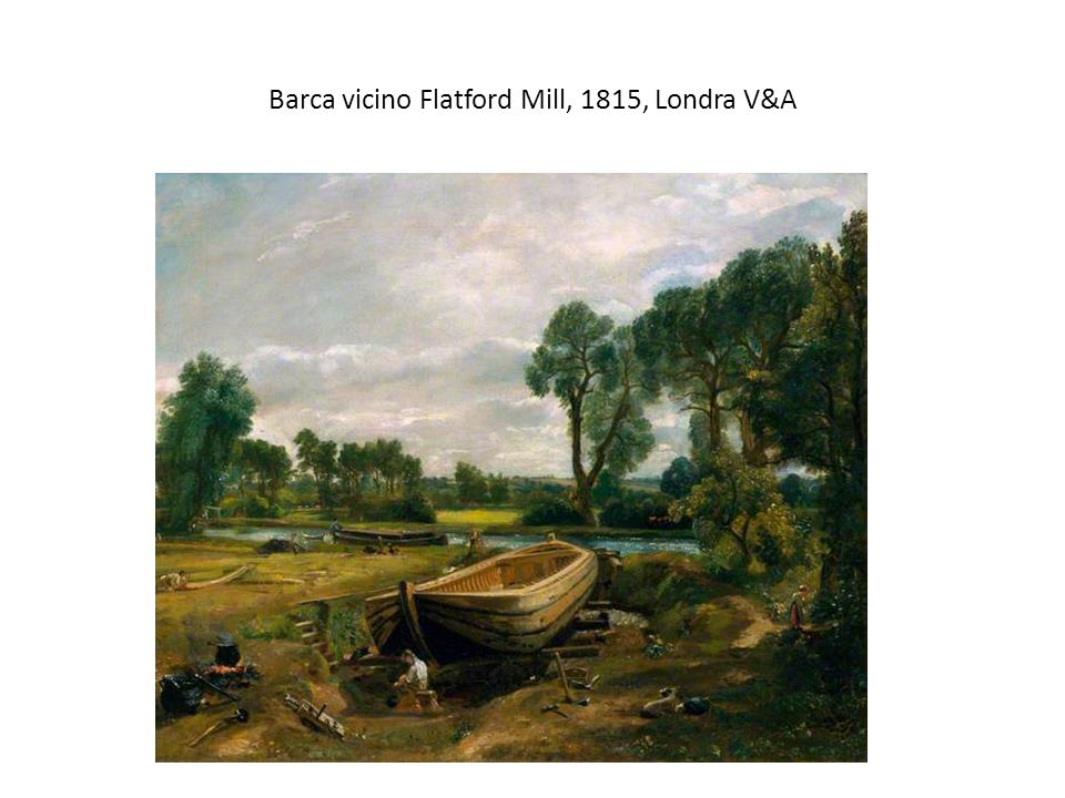 Barca vicino Flatford Mill, 1815, Londra V&A