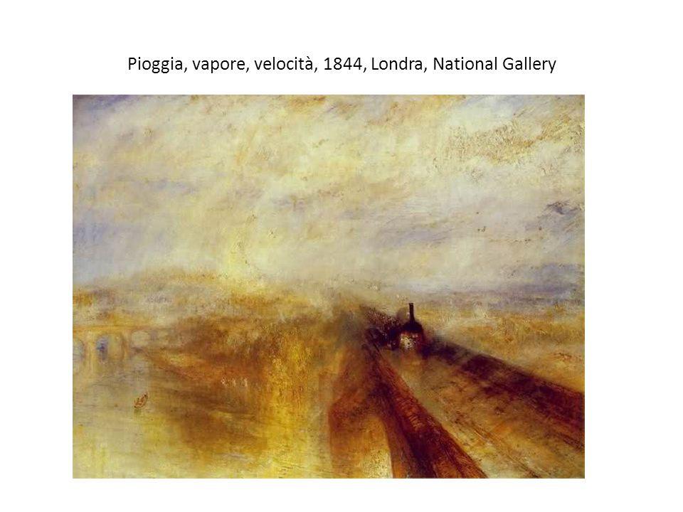 Pioggia, vapore, velocità, 1844, Londra, National Gallery