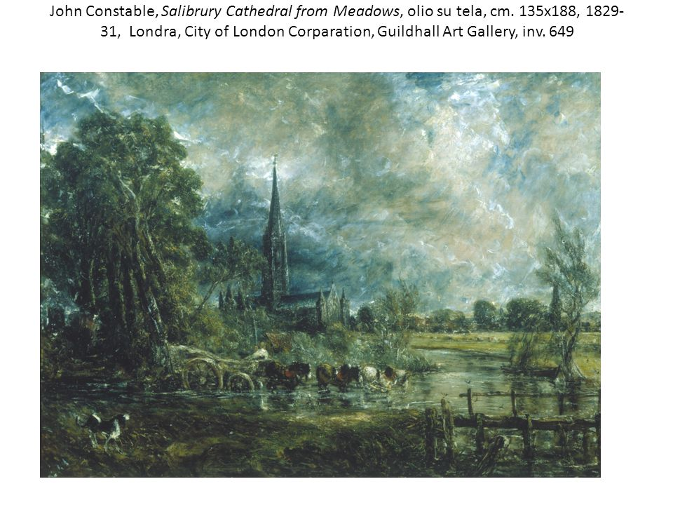 John Constable, Salibrury Cathedral from Meadows, olio su tela, cm