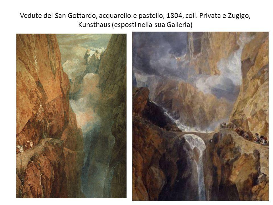 Vedute del San Gottardo, acquarello e pastello, 1804, coll