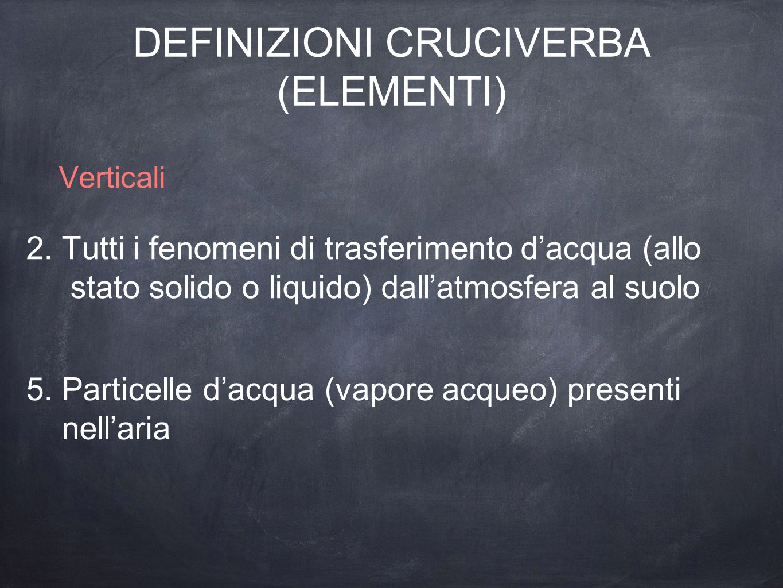 DEFINIZIONI CRUCIVERBA (ELEMENTI)