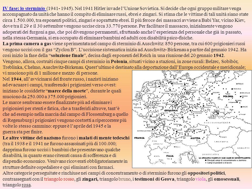 IV fase: lo sterminio (1941- 1945)