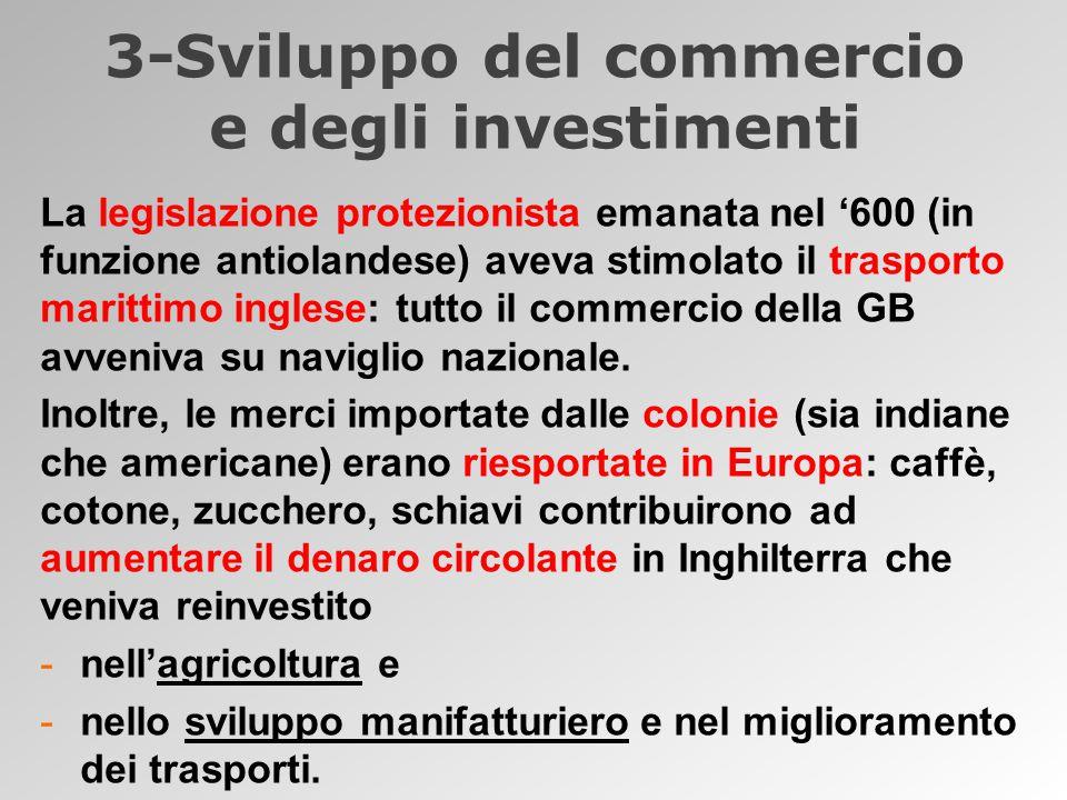 3-Sviluppo del commercio e degli investimenti