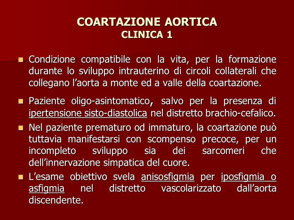 COARTAZIONE AORTICA CLINICA 1