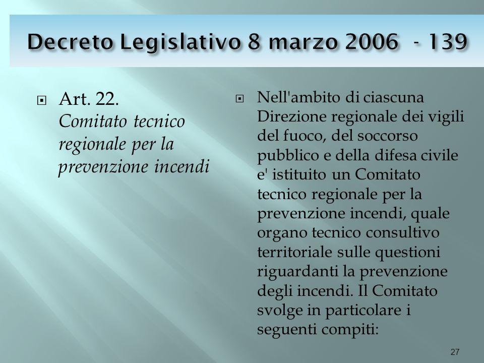 Decreto Legislativo 8 marzo 2006 - 139