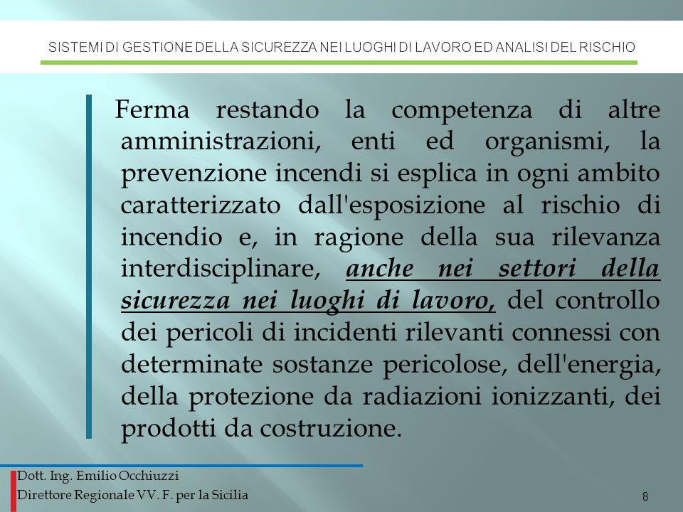 SISTEMI DI GESTIONE DELLA SICUREZZA NEI LUOGHI DI LAVORO ED ANALISI DEL RISCHIO