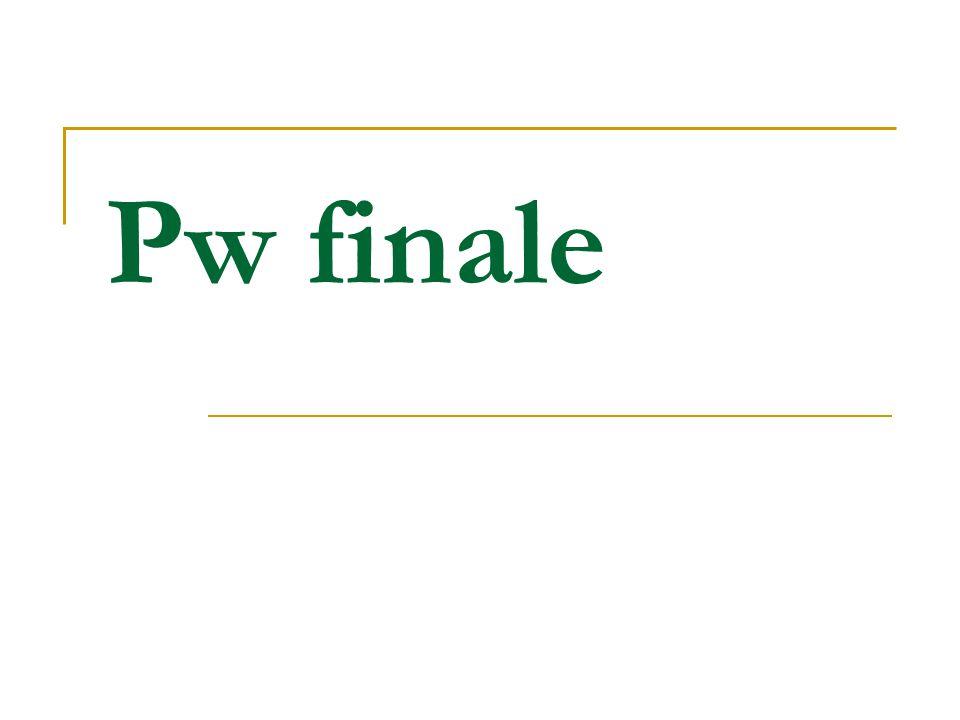 Pw finale