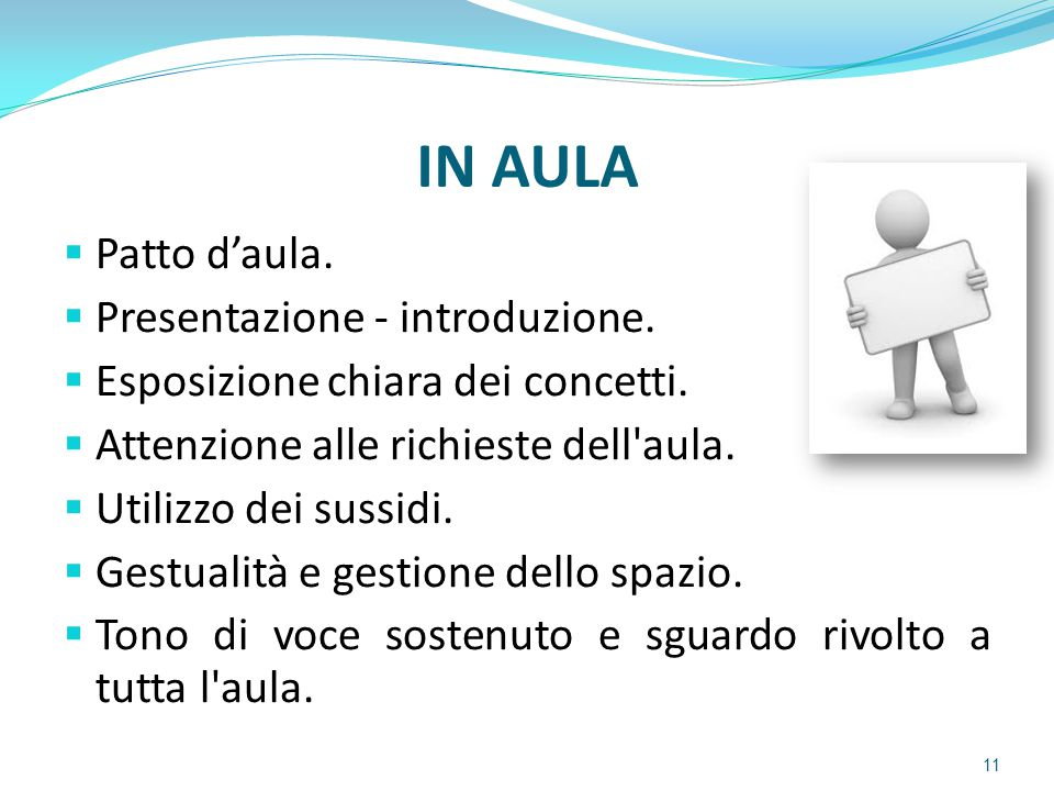 IN AULA Patto d'aula. Presentazione - introduzione.