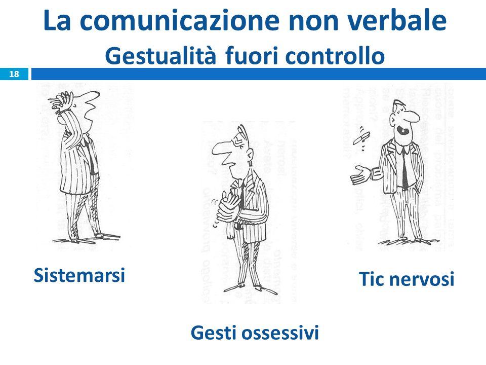La comunicazione non verbale Gestualità fuori controllo