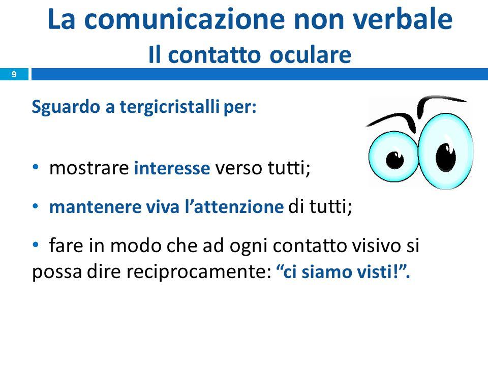 La comunicazione non verbale Il contatto oculare