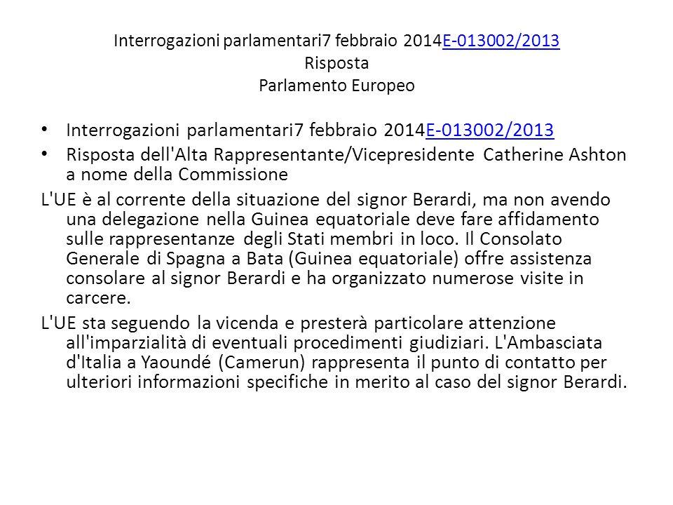 Interrogazioni parlamentari7 febbraio 2014E-013002/2013