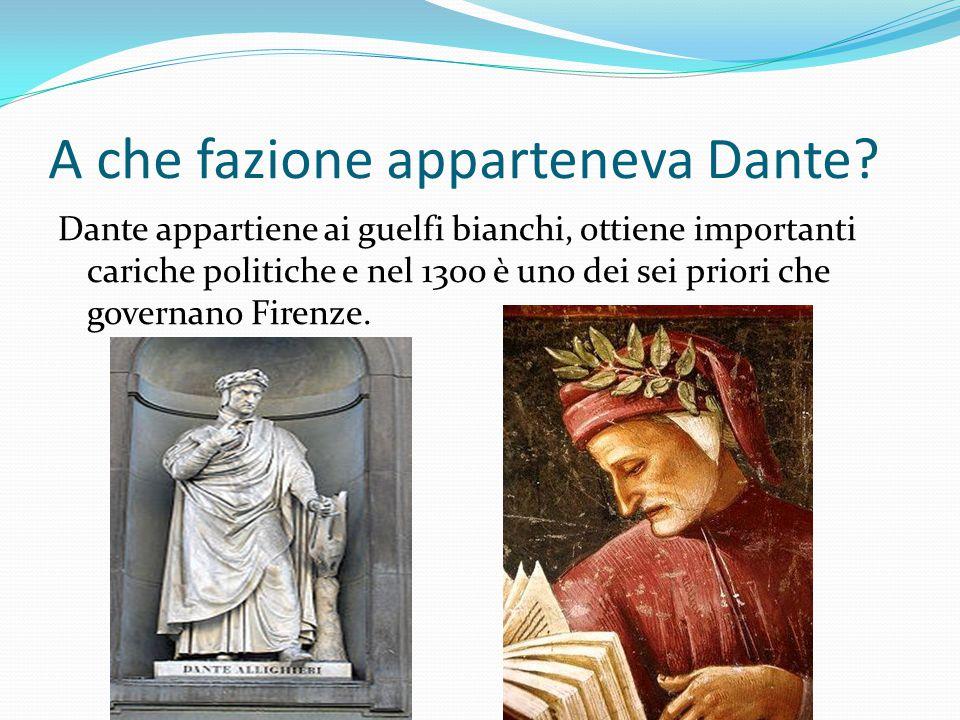 A che fazione apparteneva Dante