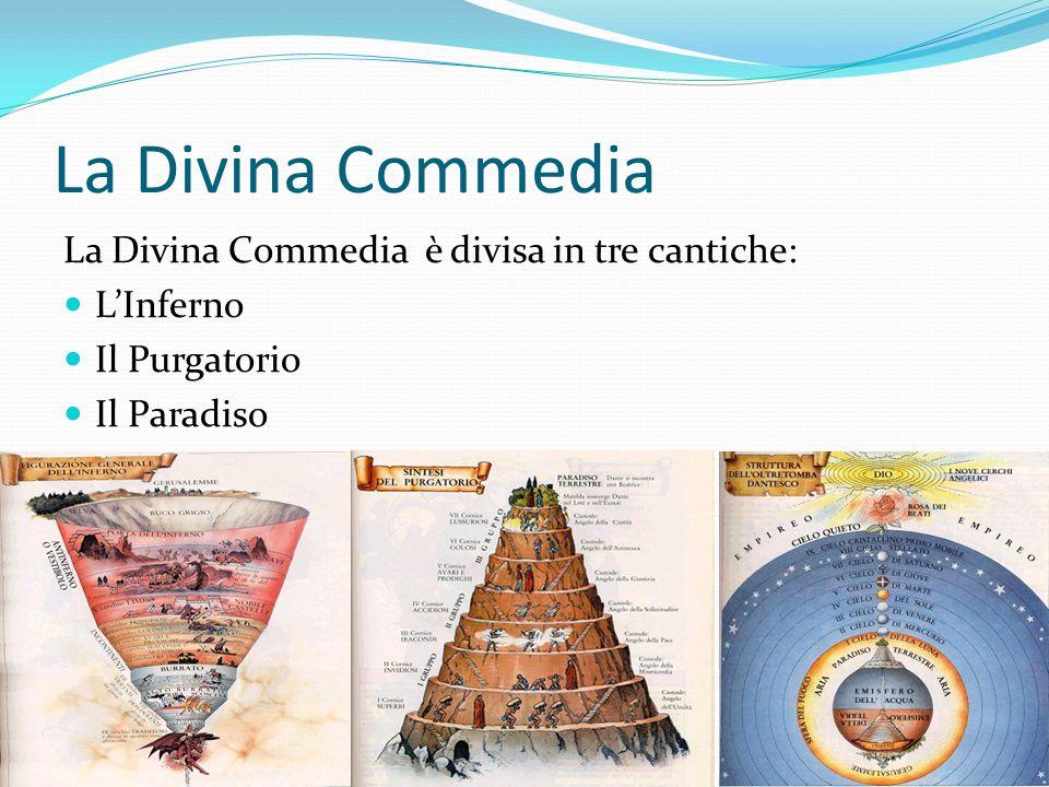La Divina Commedia La Divina Commedia è divisa in tre cantiche: