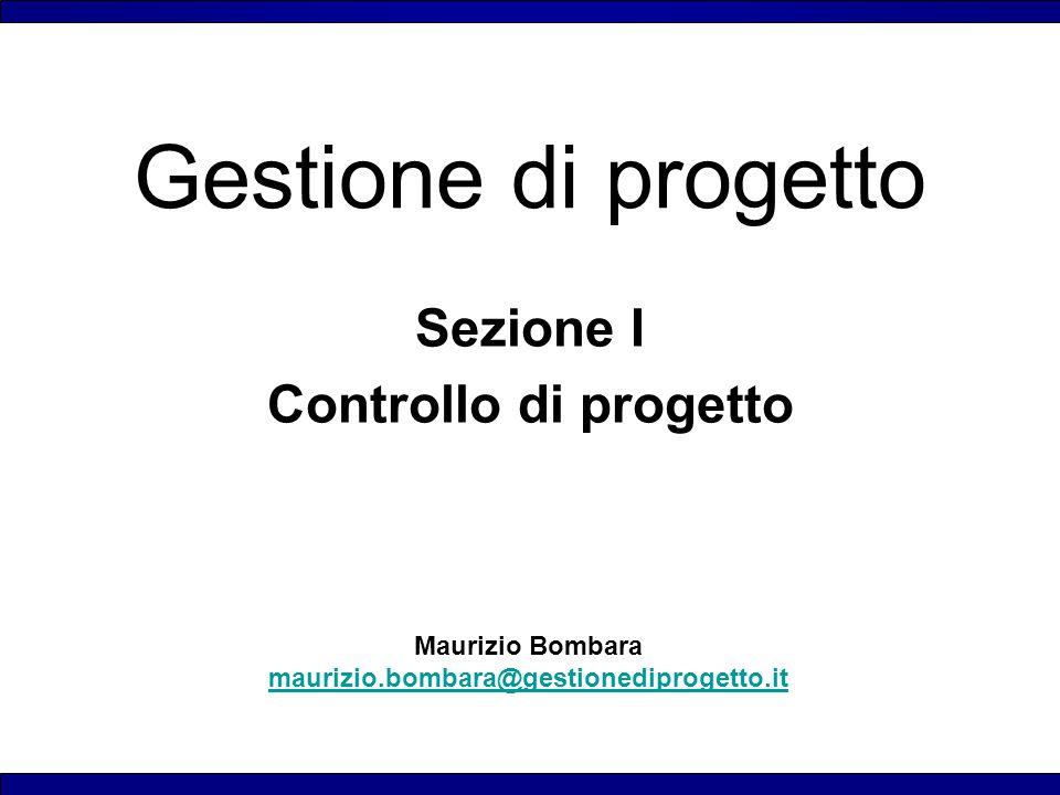 Sezione I Controllo di progetto