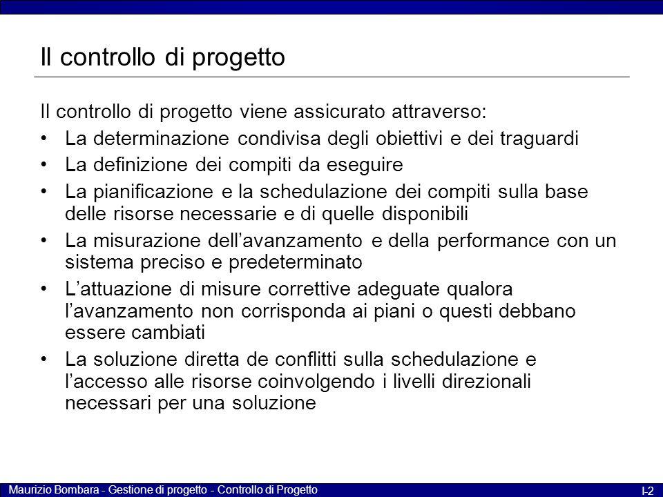 Il controllo di progetto