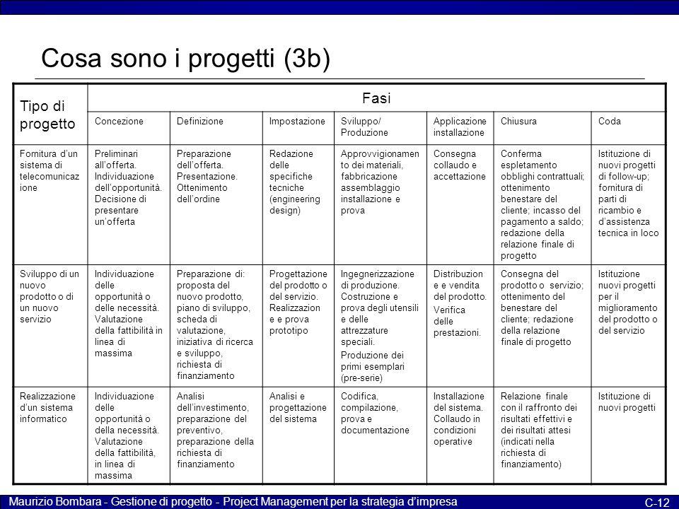 Cosa sono i progetti (3b)