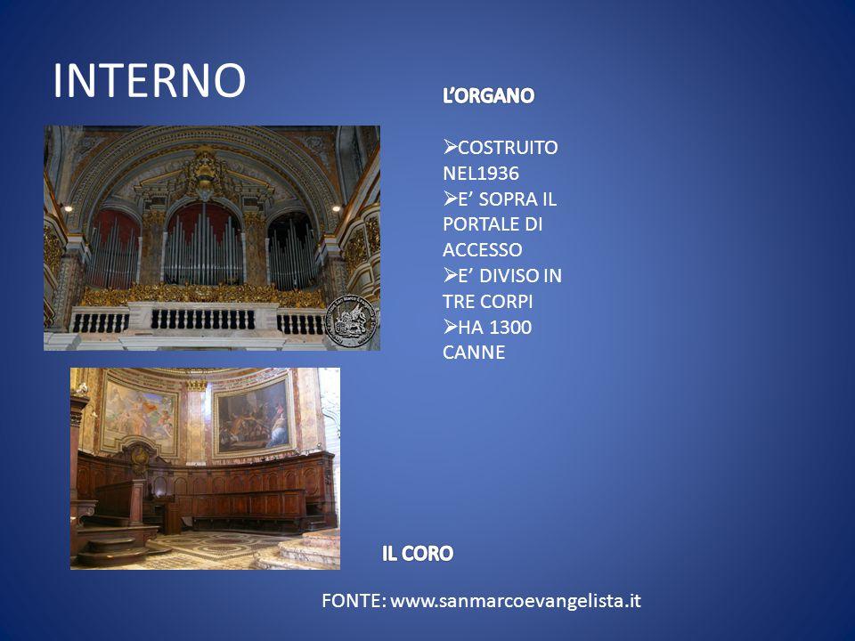 FONTE: www.sanmarcoevangelista.it