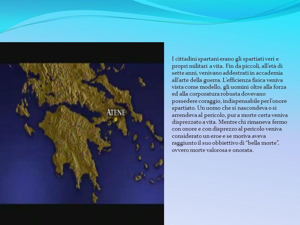 I cittadini spartani erano gli spartiati veri e propri militari a vita