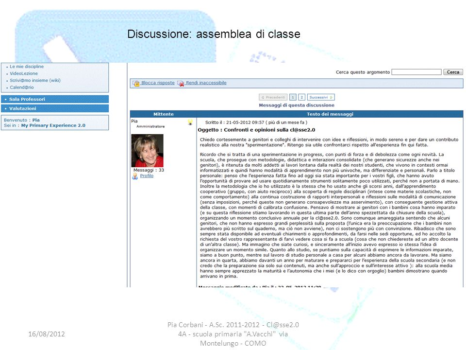 Discussione: assemblea di classe