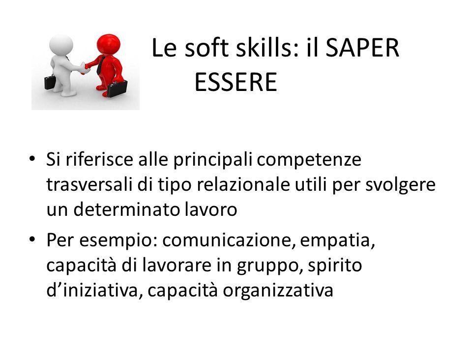 Le Le soft skills: il SAPER ESSERE
