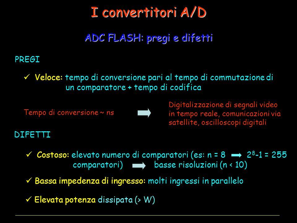 I convertitori A/D ADC FLASH: pregi e difetti PREGI
