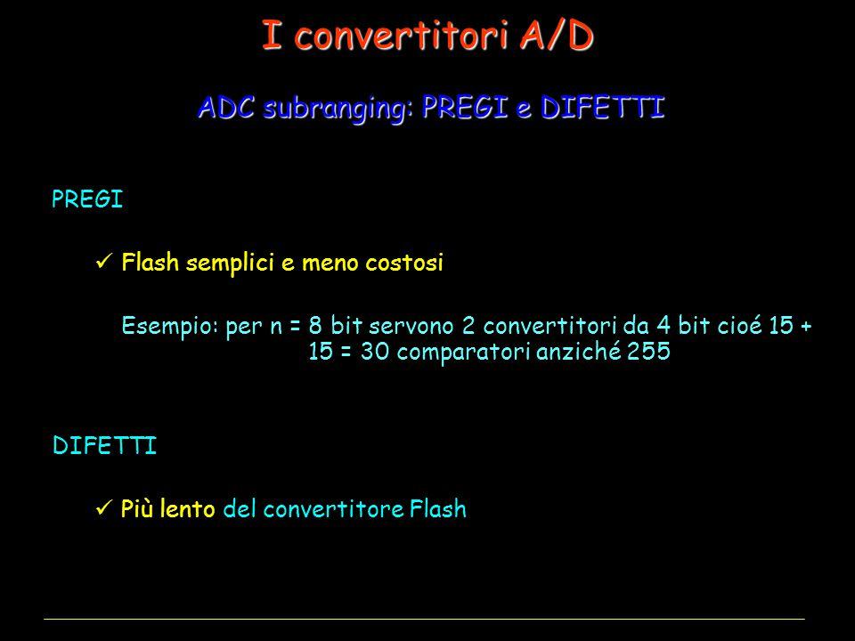 ADC subranging: PREGI e DIFETTI