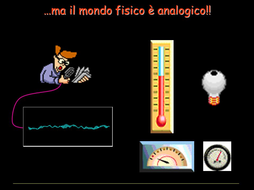 …ma il mondo fisico è analogico!!