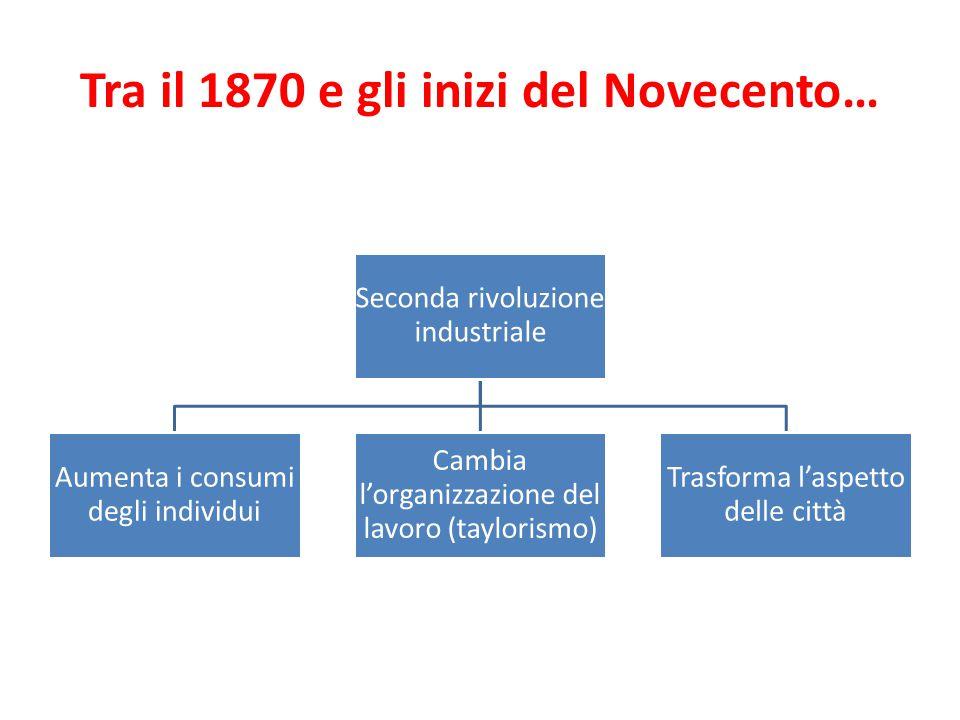 Tra il 1870 e gli inizi del Novecento…