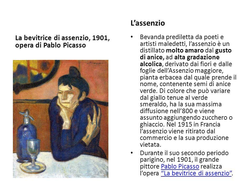 L'assenzio La bevitrice di assenzio, 1901, opera di Pablo Picasso