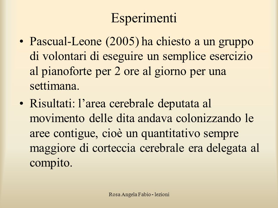 Rosa Angela Fabio - lezioni
